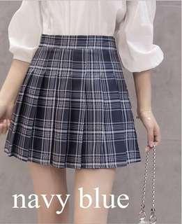 NAVY BLUE Plaid Tennis Skirt HW