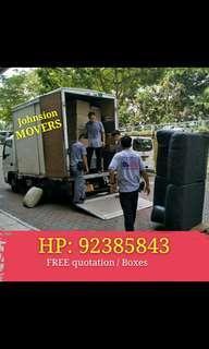 搬家FREE quotation, house moving services call 92385843 JohnsionMover