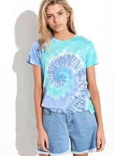 ghanda blue tie dye top