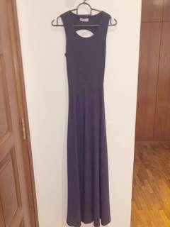 Love bonito dark purple maxi dress xs