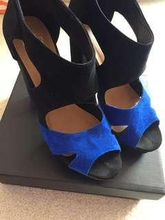 Novo Blue/Black Heels