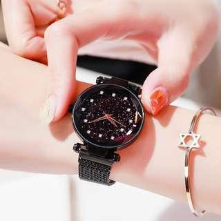 Star Starry Women  Magnetic Analog Watch