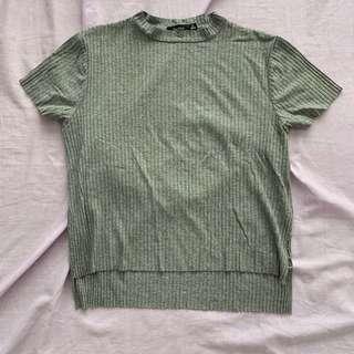 Bershka Ribbed Shirt