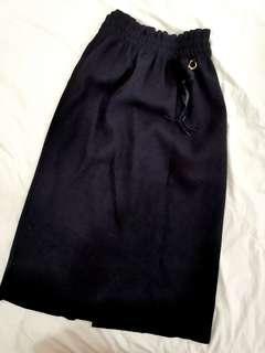 Dior inspired Korea Black Medium Knitted Thick Long Dress