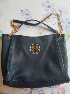 Tory Burch Leather Blue Bag