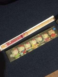 Hello Kitty Collectibles and Chop Sticks