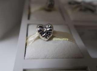 Pandora bow heart love charm