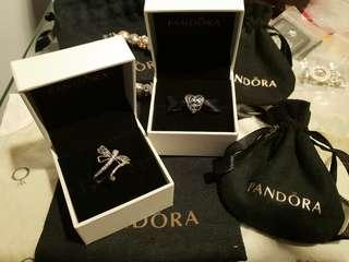 *Perfect Gift Set* Authentic Pandora Dragonfly Ring and Spring Charm