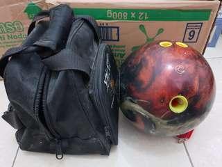 Bola bowling columbia 300 dan tas bowling fireball