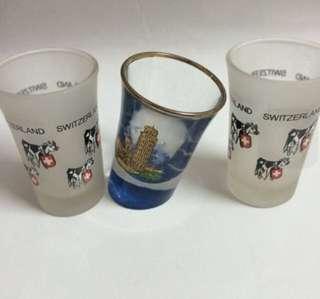 3pcs Switzerland mini cup