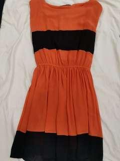 Pupla orange black dress