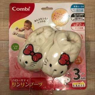 Combi Hello kitty 寶寶腳套/襪套 有鈴鐺聲