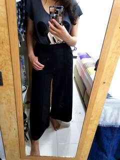 Korea inspired high waist culottes/ wide leg pants