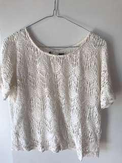 Cream lace top