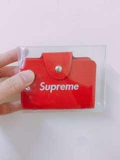 🚚 Supreme 血紅名片夾