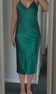 Maurie and Eve green silk slip dress