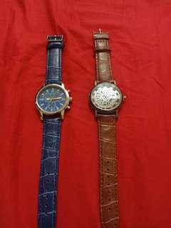 Jam tangan kulit ambil 2