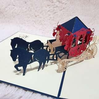 Valentine's Pop Up Cards - Horse Carriage