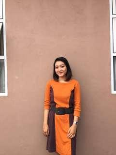 Expand cotton dress fit to L