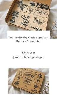 Toolstoliveby Coffee Quotes Rubber Stamp Set