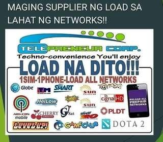 Load supplier to all networks. Be a retailer or dealer.