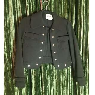 Black, 100% wool Bolero jacket, black, vintage.  Great condition. Size 6