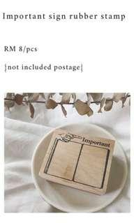 Important Sign Rubber Stamp