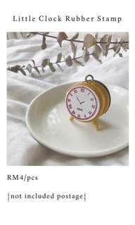 Little Clock Rubber Stamp