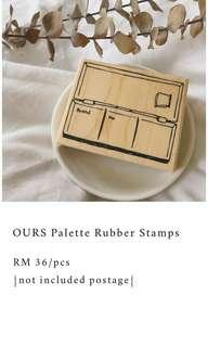 OURS Palette Rubber Stamp