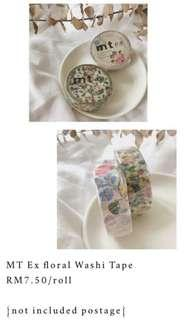 MT Ex Floral Washi Tape Roll
