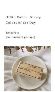 Colors Of The Day Rubber Stamp