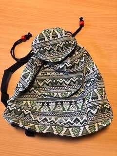 Green Batik Style Bag