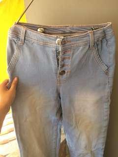 Celana jeans light blue HW