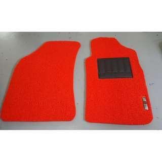 MITSUBISHI LANCER GLX CS3 OEM FITMENT CAR FLOOR MATS. PVC CARPET MAT MITSUBISHI LANCER RALLIART OR GLX LOGO 5 PCS COLOR AVAILABLE - BLACK ,RED,GREY,GREEN ,BEIGE ,BROWN & BLUE...