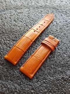 Genuine Crocodile belly 20mm watch strap pumpkin brown for Daniel Wellington Rolex Omega JLC Grand Seiko etc