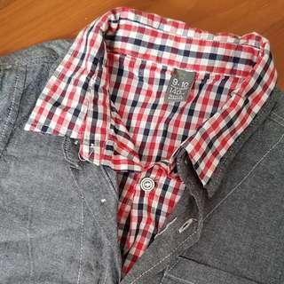 Zara kids long sleeve dual layer design shirt