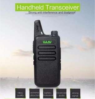 3🔥02pcs set🔥Thin UHF 400-470Mhz Wireless Walkie Talkie WLN KD-C1 With 5W Ham Radio Station Mini Mobile Two Way Radio Transceiver