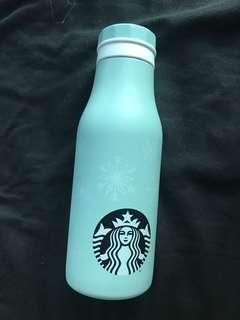 Ice light blue Starbucks ceramic insulated tumblr winter Christmas bottle