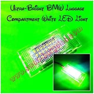 Plug n Play BMW Ultra-Bright Error-free Crystal White 24SMD LED Rear Trunk Boot Luggage Compartment Lamp Replacement Light Modules Set BMW F10 E39 E60 E38 E65 E66 E67 E68 F01 F02 E90 E92 E93 E82 E88 E53 E84