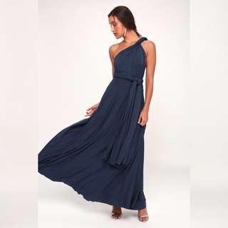🚚 Lulus Convertible Maxi Dress (Navy)