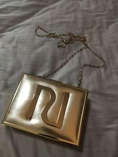 Used Once River Island Chain Clutch Dinner Bag