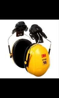 3M™ Peltor™ Optime 98 Cap-Mount Earmuffs, H9P3E, yellow