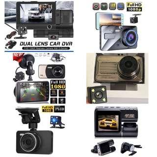 New 1080p Dual Channel Front & Rear Reverse Car Dash Camera With Parking Mode function - Complete Set with wirings