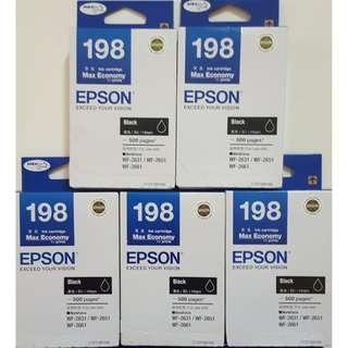 BUNDLE DEAL - Brand New 198 Epson Ink Cartridge Refill WF-2631 / WF-2651 / WF-2661