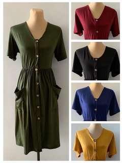 Melinda maxi button down dress