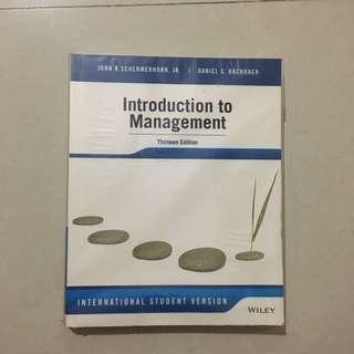 Introduction to management (13 edition) - wileyplus, john r. schermerhorn