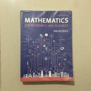 Ian Jacques - Mathematics for economics & business (8th edition)