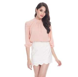 *CNY 50% OFF SALE* BNWT The Closet Lover Caryn Scallop Skirt