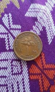 Duit Syiling Lama RM1 1994