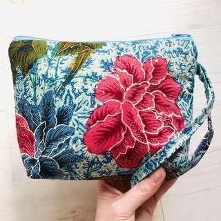 Batik Cosmetic Pouch Handmade in Singapore